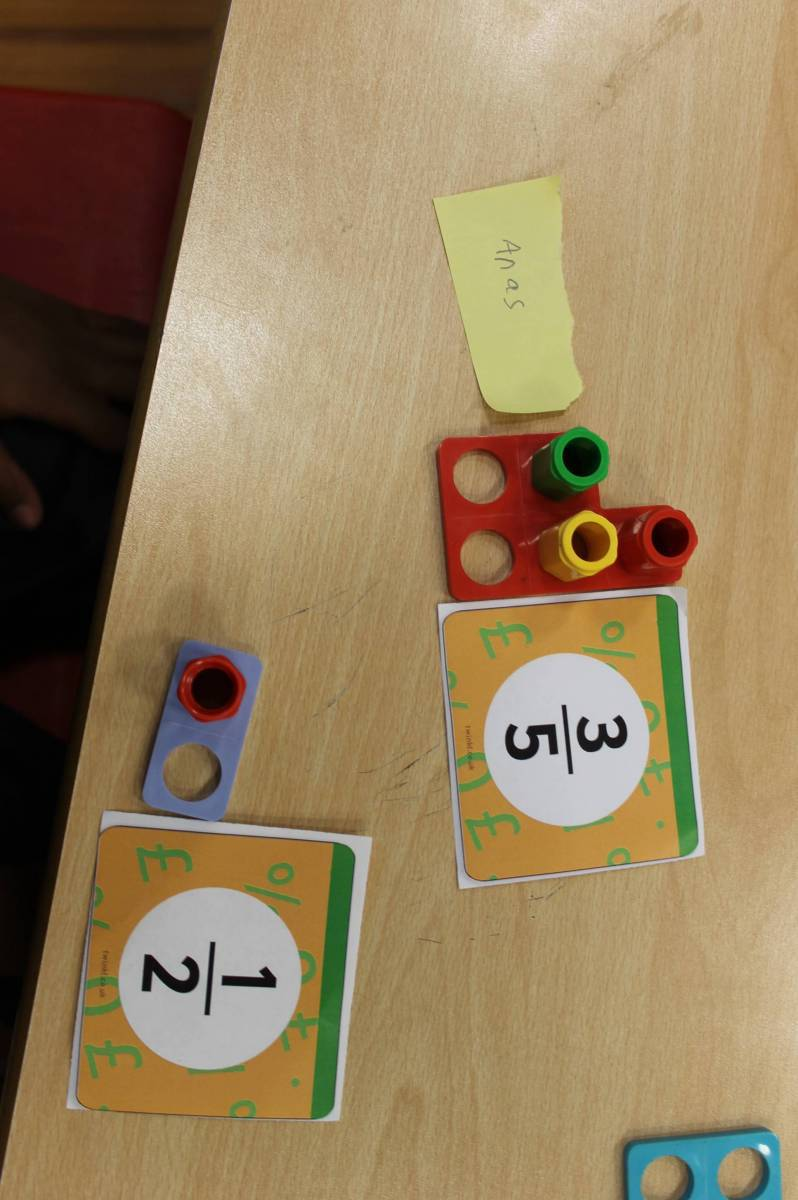 how to use numicon for fractions