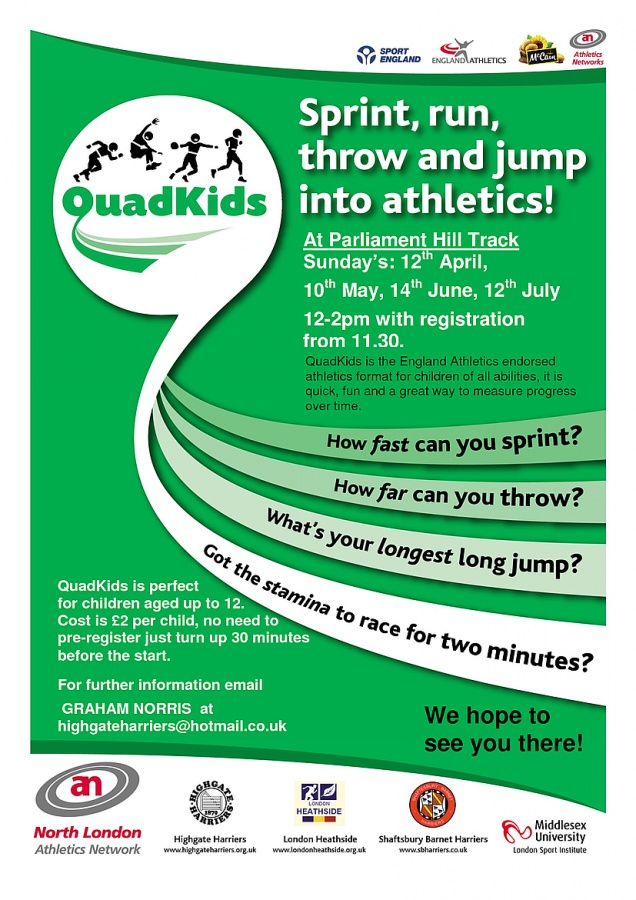 Quadkids - Sprint, Run, Throw and Jump into Athletics! - Brecknock ...