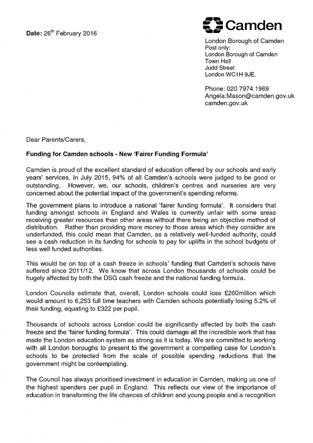 letter from councillor angela mason