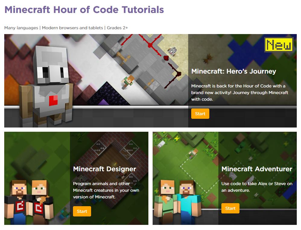 hour of code - minecraft attack